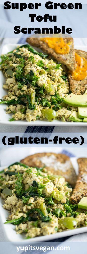 Green Tofu Scramble | Yup, it's Vegan