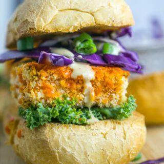 Buffalo Tofu Sliders + How to Make Crispy, Chewy Tofu