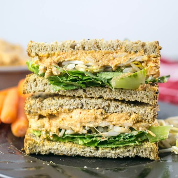 Vegan Pimento Cheese Spread Sandwiches