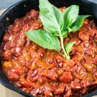 Simple Burst Cherry Tomato Sauce