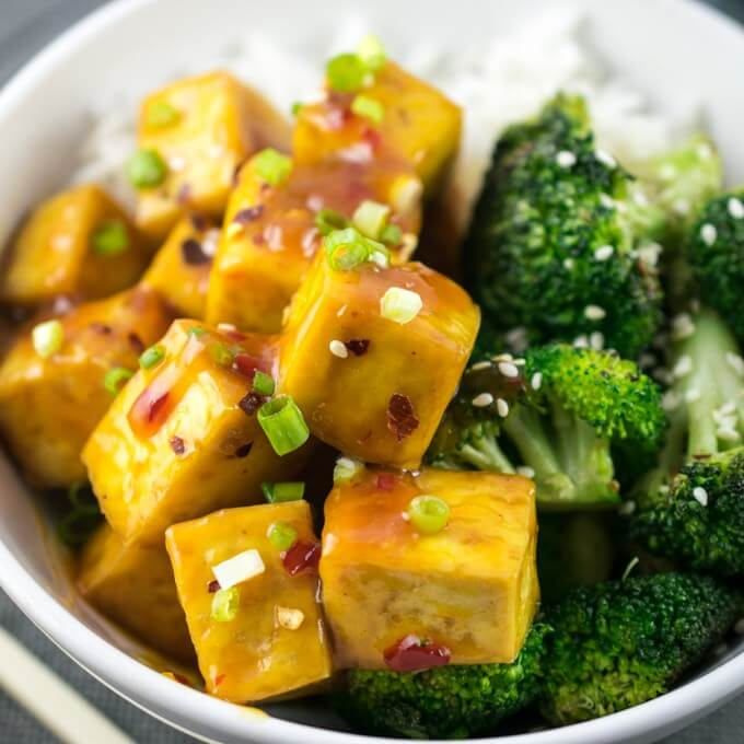 Baked Orange Tofu | Yup, it's Vegan