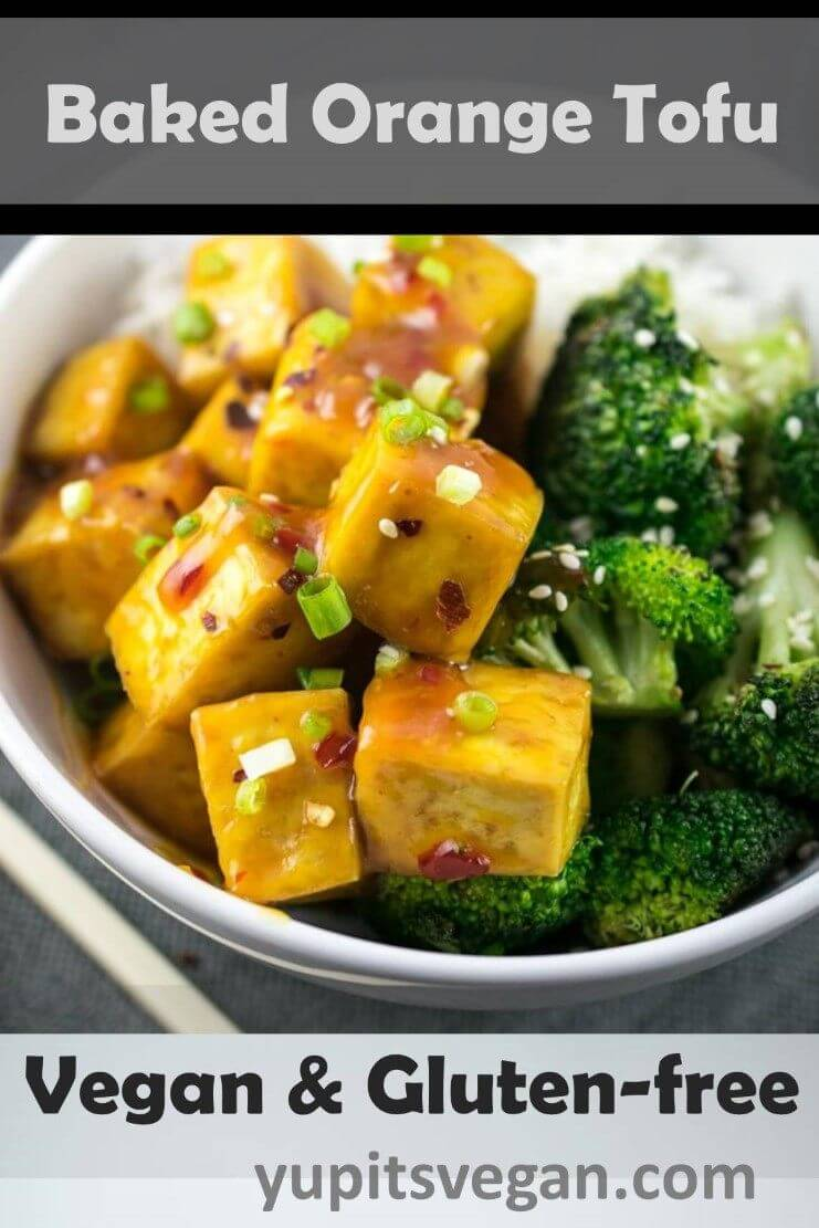 Baked Orange Tofu | Yup, it's Vegan. Crispy baked tofu tossed in a homemade orange ginger chili glaze made with pantry ingredients. Gluten-free recipe.