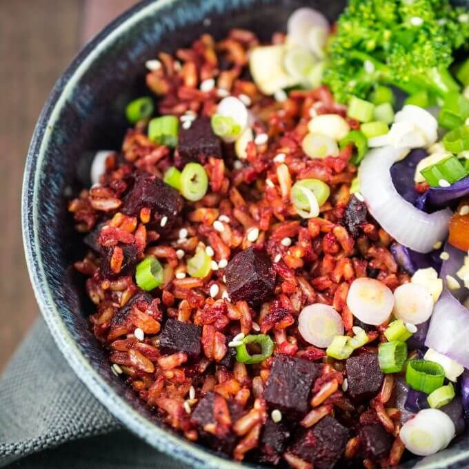 Beet Fried Rice | Yup, it's Vegan