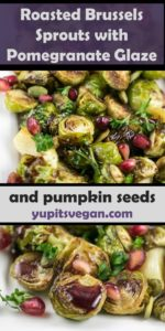 Roasted Brussels Sprouts with Pomegranate Glaze | Yup, it's Vegan