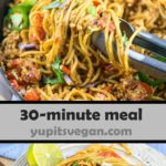 One Pot Taco Spaghetti | Yup, it's Vegan