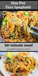 One Pot Taco Spaghetti | Yup, it's Vegan