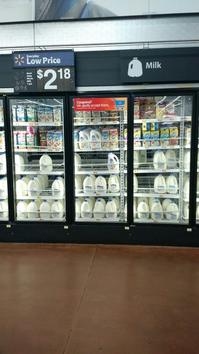 Image of Silk® Almondmilk in the Milk aisle at Walmart in Arbutus, Maryland