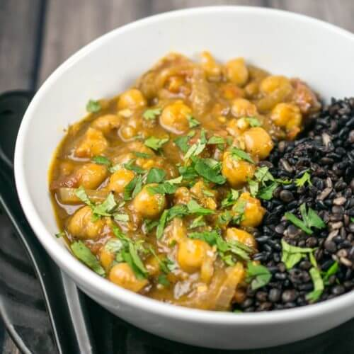 Coconut chickpea curry recipe gf vegan weeknight dinner forumfinder Image collections