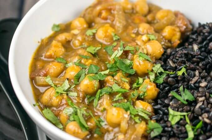 Coconut Chickpea Curry   Yup, it's Vegan
