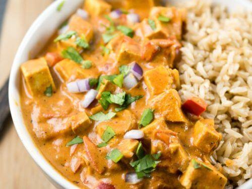 Tofu Tikka Masala Recipe Dairy Free Vegan Slow Cooker Option