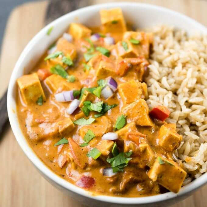 Slow Cooker Tofu Tikka Masala | Yup, it's Vegan