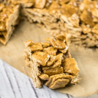 Cinnamon Toast Cereal Crispy Treats (4 Ingredients)