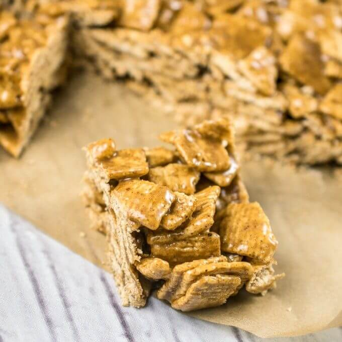 Vegan Cinnamon Toast Crunch Crispy Treats | Yup, it's Vegan