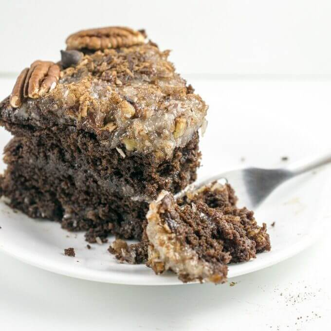 Vegan German Chocolate Cake | Yup, it's Vegan