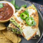 Smashed Avocado Vegan Quesadillas | Yup, it's Vegan