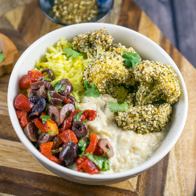 Za'atar Crusted Cauliflower Bowls