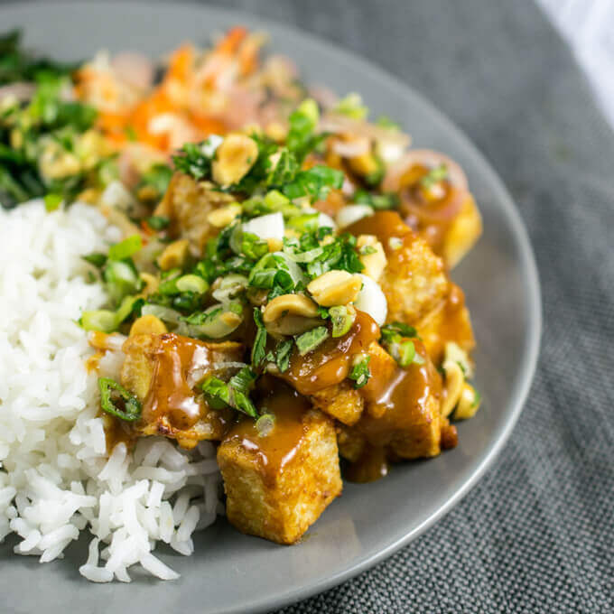 Crispy Peanut Tofu | Yup, it's Vegan