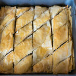 Vegan Baklava | After baking and being soaked with agave syrup