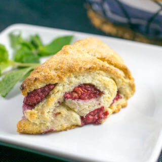 Raspberry Vanilla Bean Scones