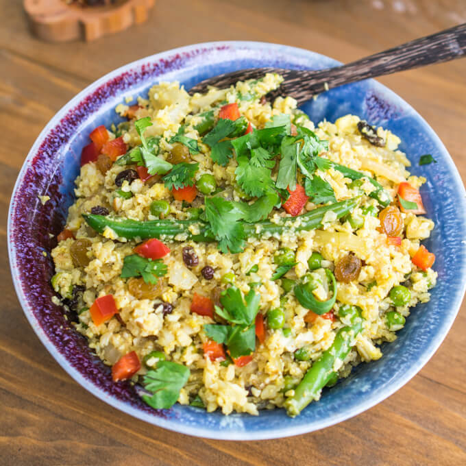 Cauliflower Rice Biryani