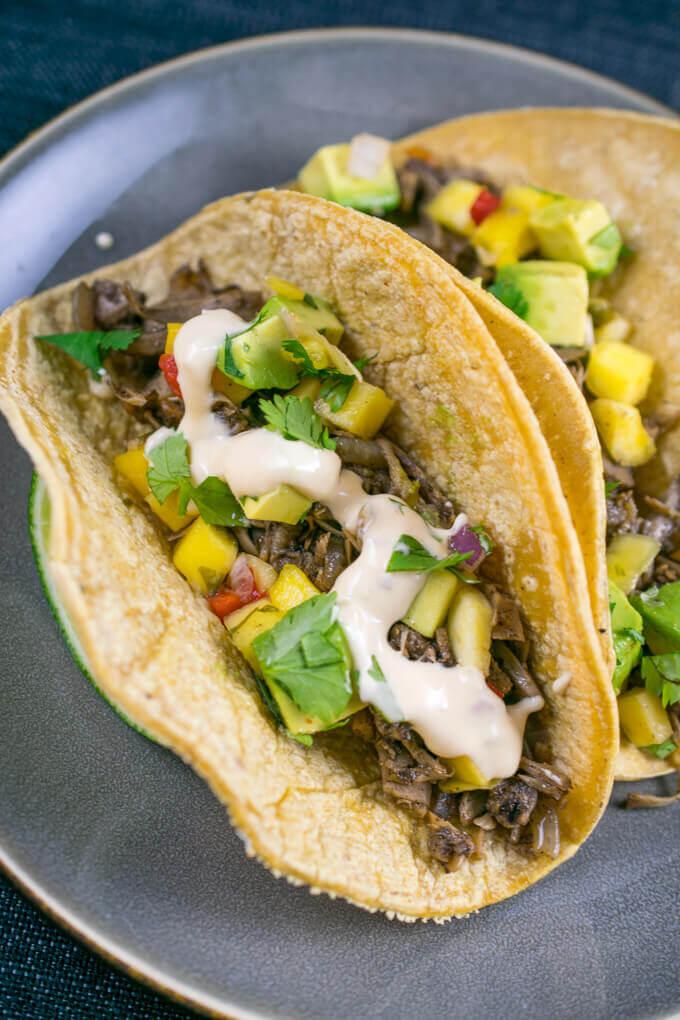 Jamaican Jerk Jackfruit Tacos Recipe Vegan Jerk Tacos