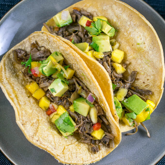 Jamaican Jerk Jackfruit Tacos | Yup, it's Vegan