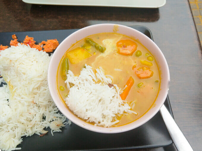 Sri Lankan Vegetable Curry in Zagreb, Croatia