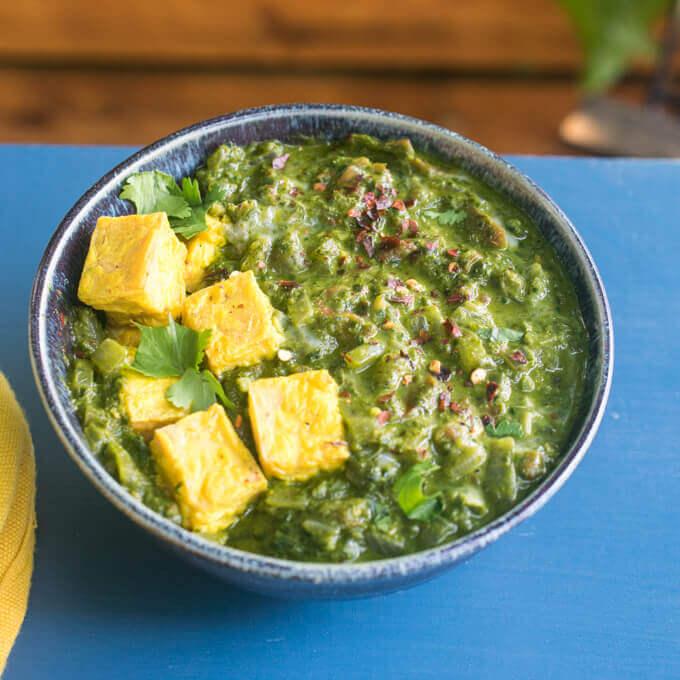 Vegan Saag Paneer Recipe Palak Tofu Dairy Free And Gluten Free