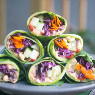 Thai Peanut Collard Wraps