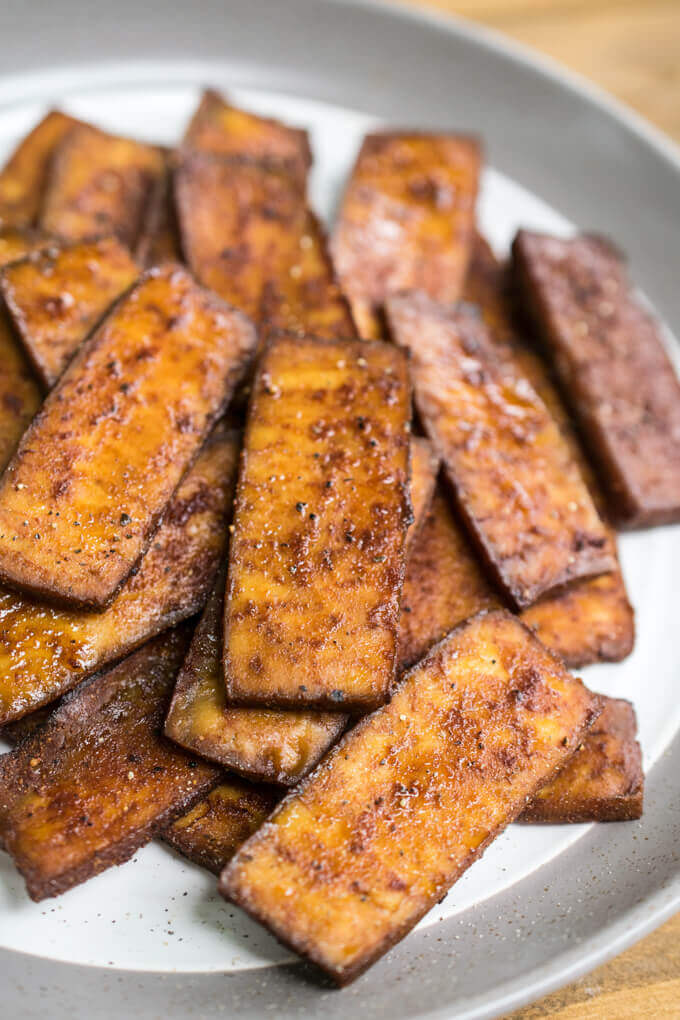 Tofu Bacon Recipe Protein Rich Vegetarian Bacon Made With Tofu