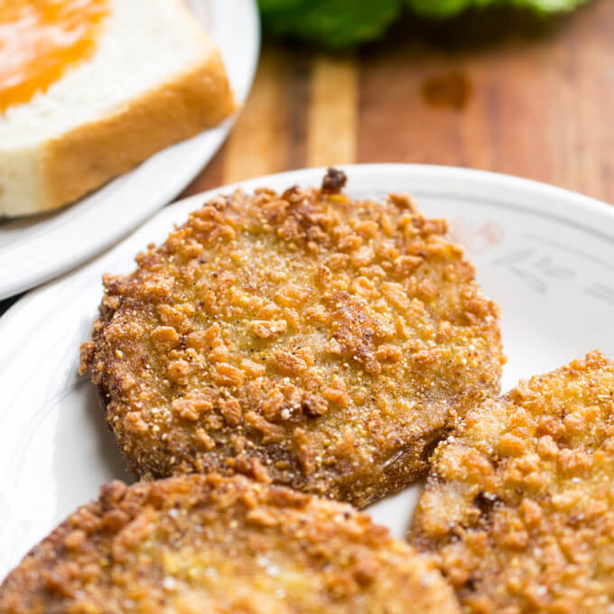 Vegan Fried Green Tomatoes | Yup, it's Vegan