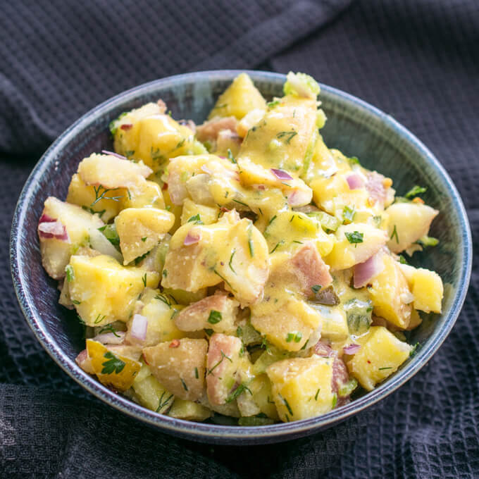 """No Funny Business"" Easy Vegan Potato Salad"