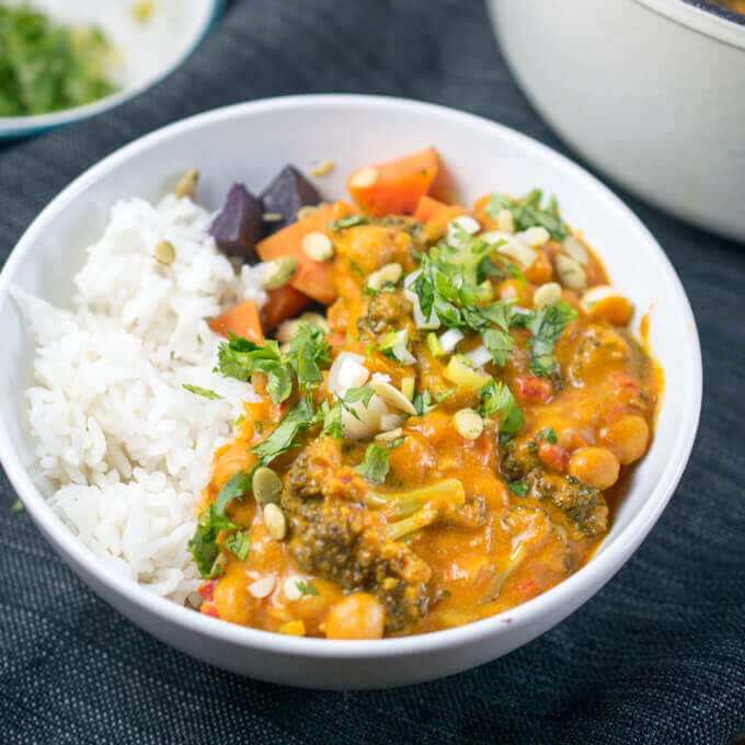 One Pot Pumpkin Curry | Yup, it's Vegan