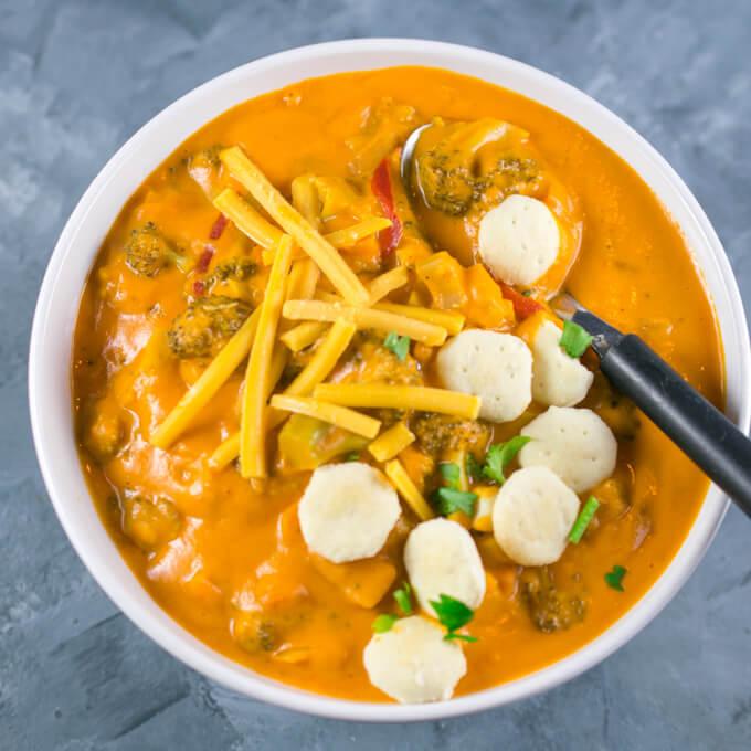 Vegan Broccoli Cheese Soup | Yup, it's Vegan
