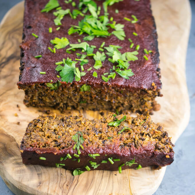 Walnut Lentil Loaf (Gluten-free) | Yup, it's Vegan