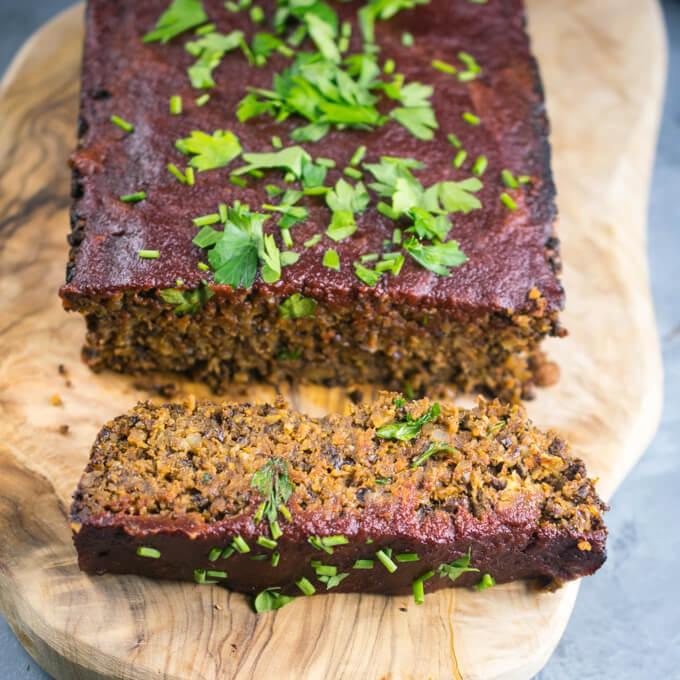Walnut Lentil Loaf (Gluten-free) | Yup, it's Vegan