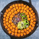 Sweet Potato Tater Tot Casserole (Hotdish) | Yup, it's Vegan