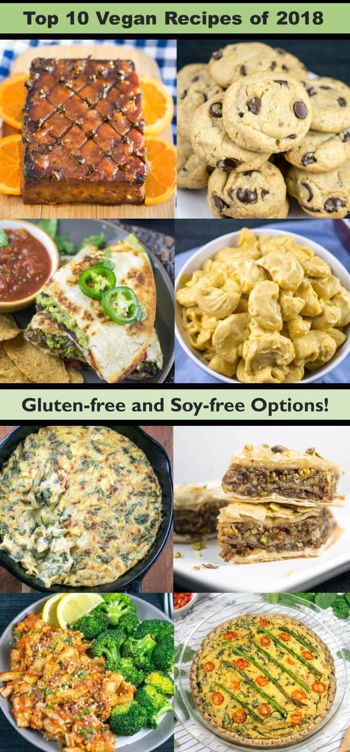 Top 10 Vegan Recipes of 2018: The best and most popular vegan recipes this year (via Yup, it's Vegan). Includes plant-based, gluten-free, dairy-free, vegetarian options.