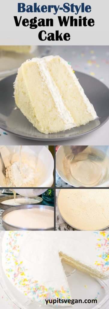 Vegan White Cake | Yup, it's Vegan