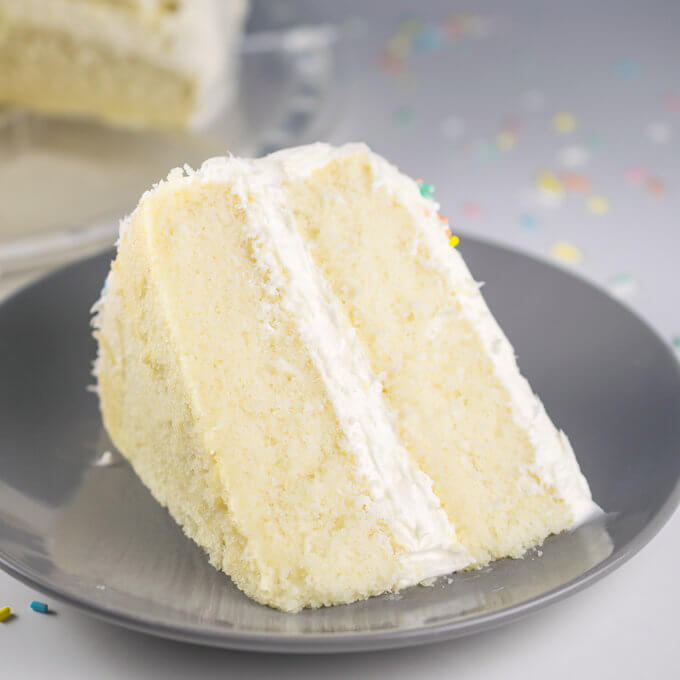 Vegan White Cake Recipe | Yup, it's Vegan