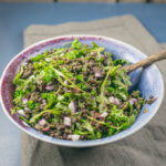 Lentil Salad with Lemon Vinaigrette | Yup, it's Vegan