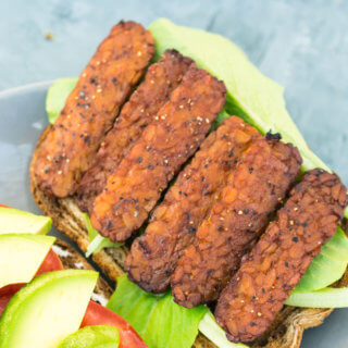 Black Pepper Tempeh Bacon | Yup, it's Vegan