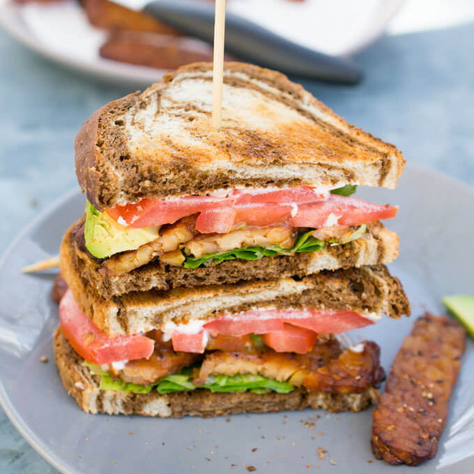 Vegan BLT with Tempeh Bacon | Yup, it's Vegan