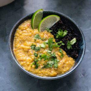 Easy Coconut Lentil Curry