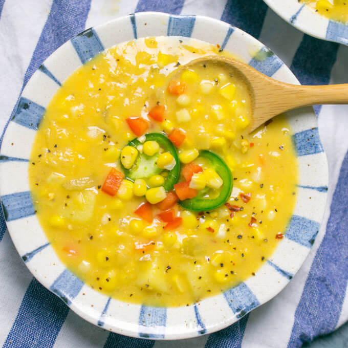 Sunny Vegan Corn Chowder | Yup, it's Vegan