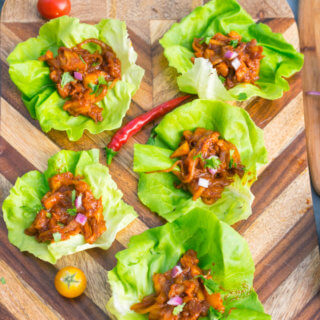 BBQ Pulled Pineapple Lettuce Wraps | Yup, it's Vegan