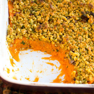 Savory Sweet Potato Casserole | Yup, it's Vegan