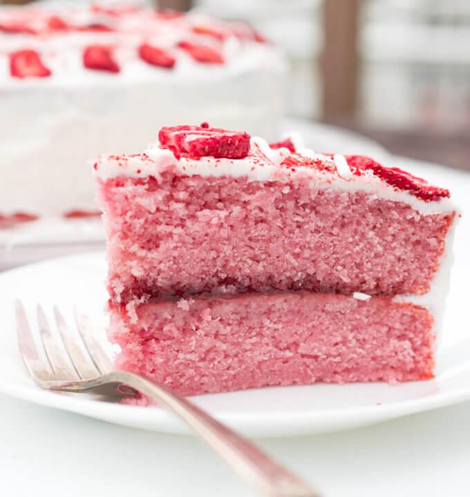 Vegan Strawberry Cake | Yup, it's Vegan